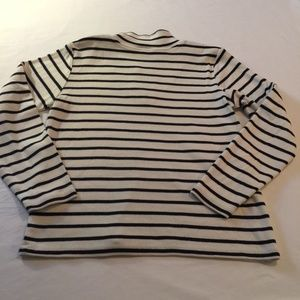 LL Bean Sweaters - LL Bean 100% Cotton Navy/white striped pullover